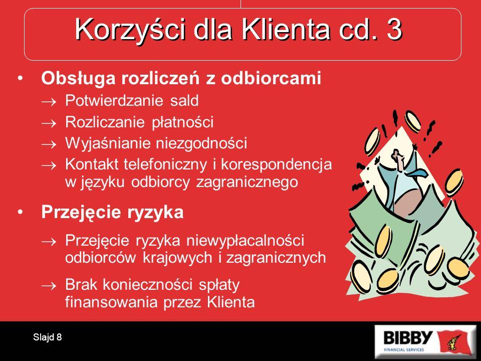 Korzyści dla Klienta cd. 3