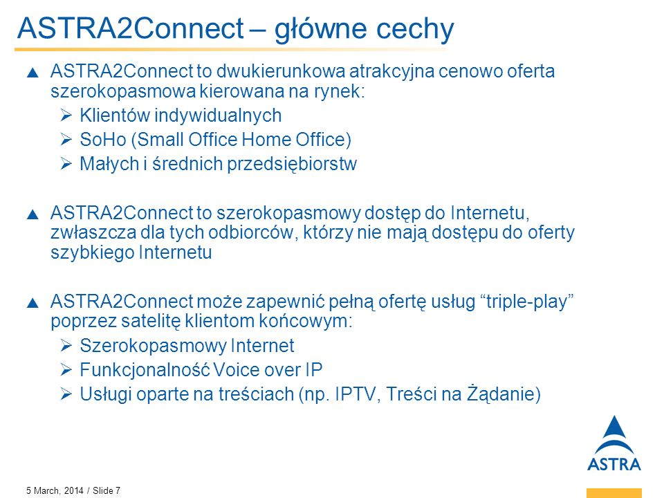 ASTRA2Connect – główne cechy