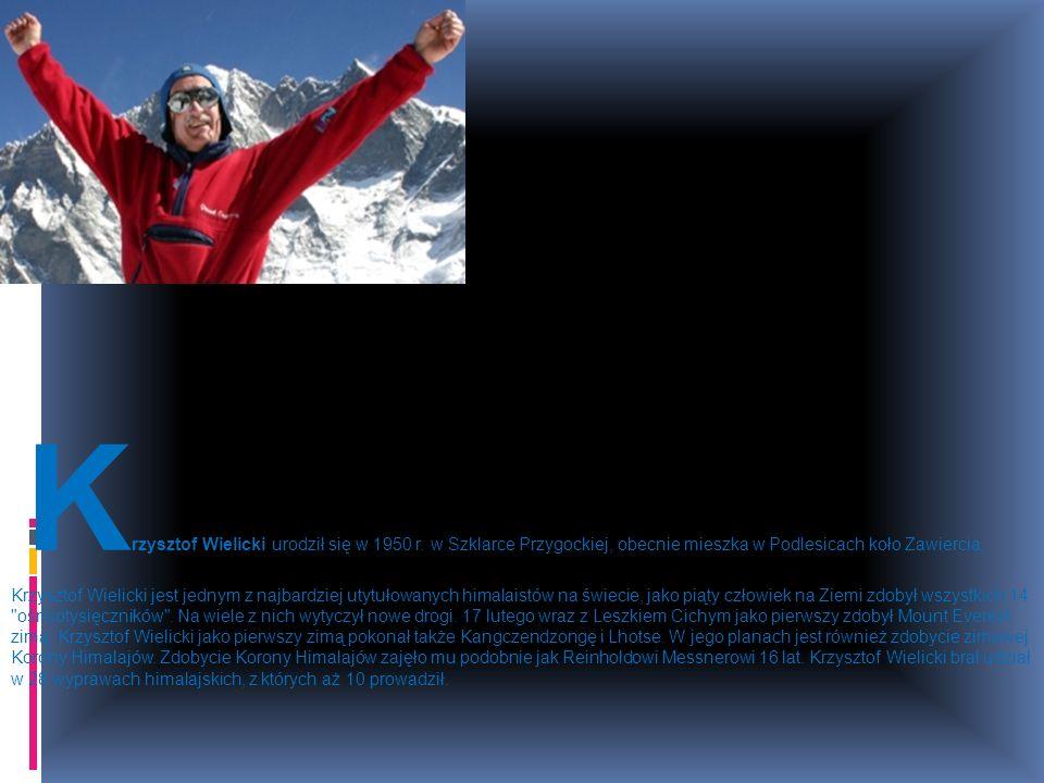 Krzysztof Wielicki urodził się w 1950 r