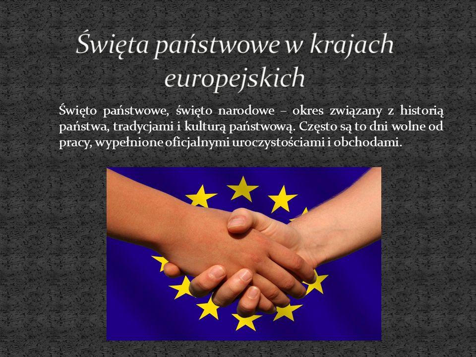 Święta państwowe w krajach europejskich