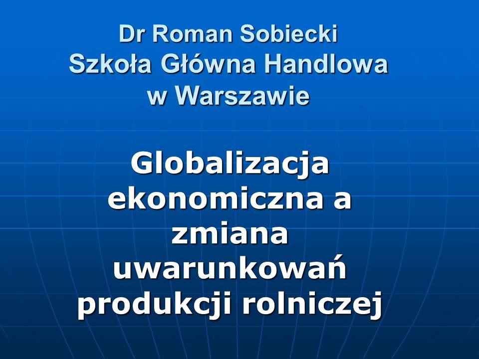 Dr Roman Sobiecki Szkoła Główna Handlowa w Warszawie