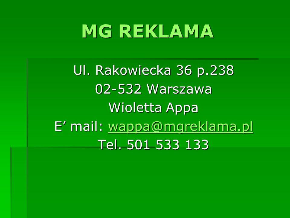 E' mail: wappa@mgreklama.pl