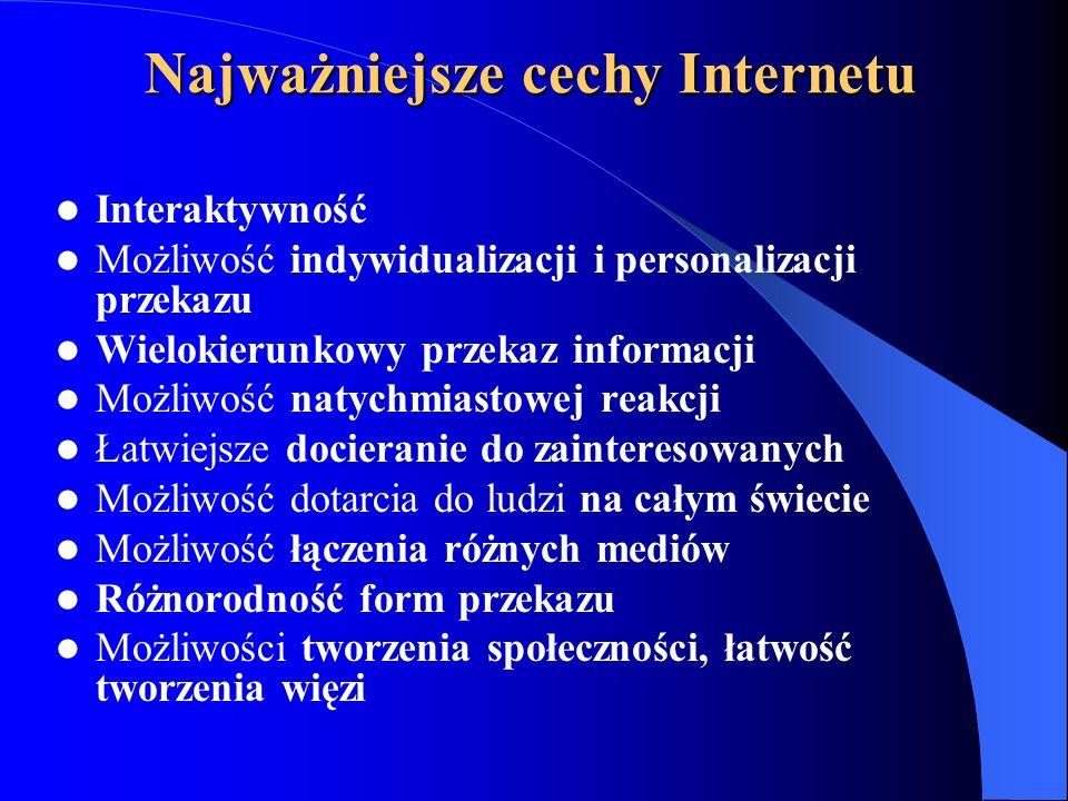 Najważniejsze cechy Internetu