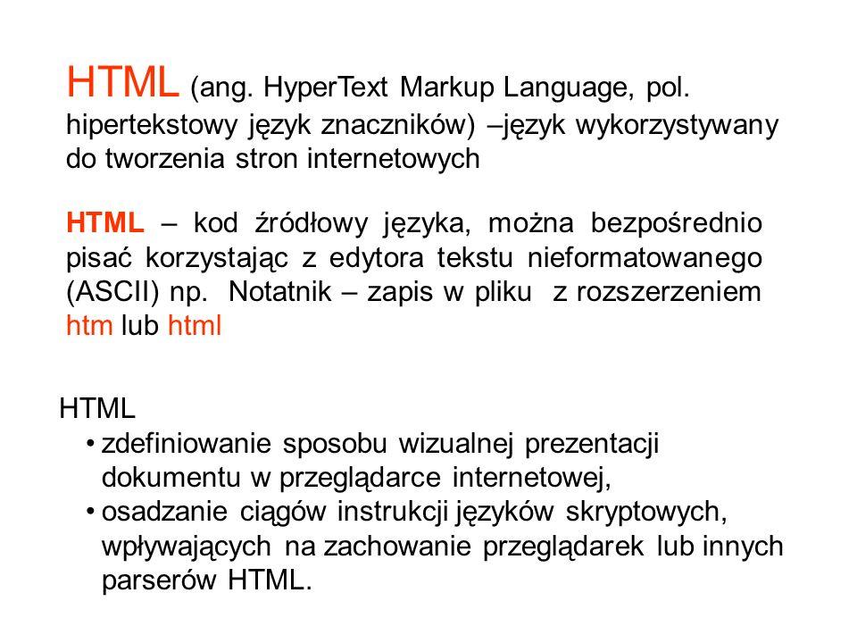 HTML (ang. HyperText Markup Language, pol