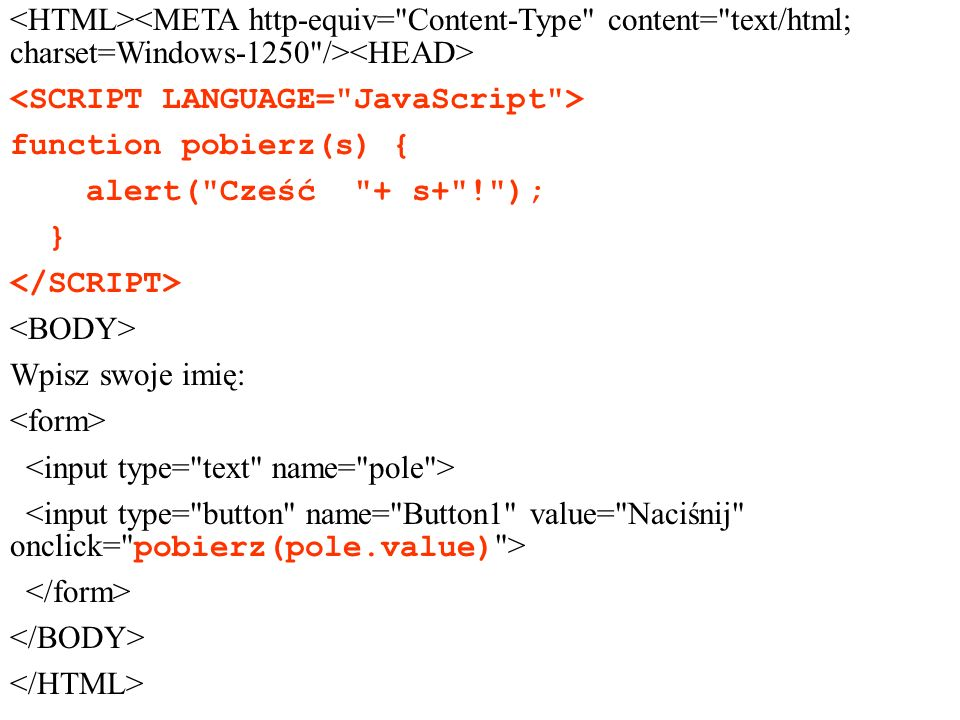 <HTML><META http-equiv= Content-Type content= text/html; charset=Windows-1250 /><HEAD> <SCRIPT LANGUAGE= JavaScript >