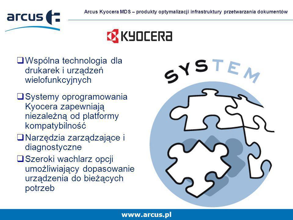 Wspólna technologia dla drukarek i urządzeń wielofunkcyjnych
