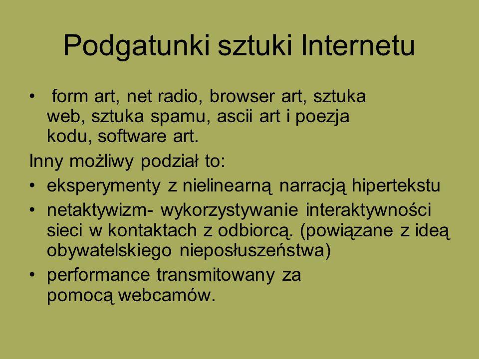 Podgatunki sztuki Internetu
