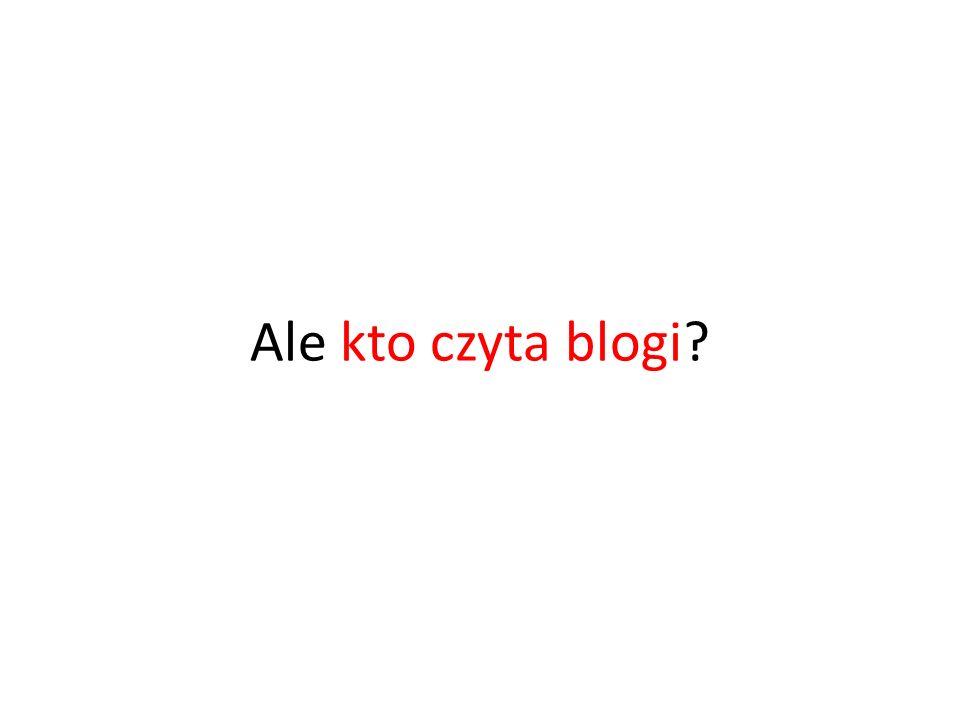 Ale kto czyta blogi