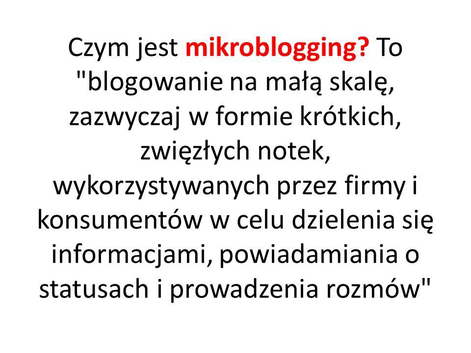 Czym jest mikroblogging