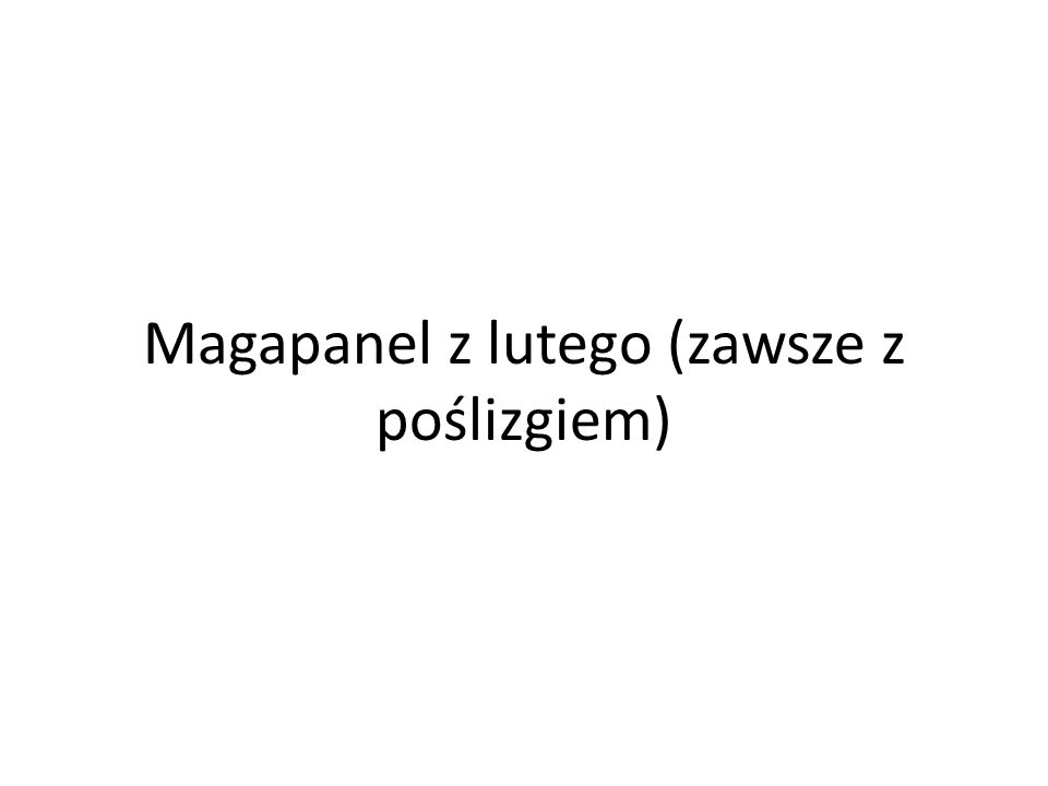 Magapanel z lutego (zawsze z poślizgiem)