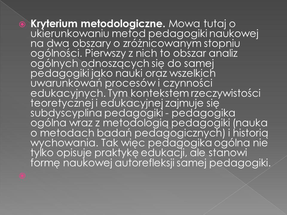 Kryterium metodologiczne