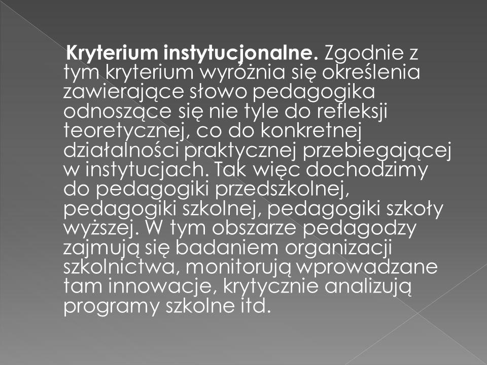Kryterium instytucjonalne