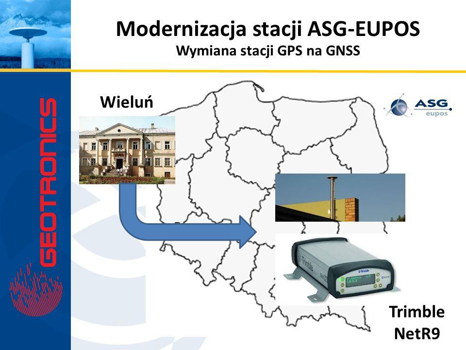 Modernizacja stacji ASG-EUPOS Wymiana stacji GPS na GNSS