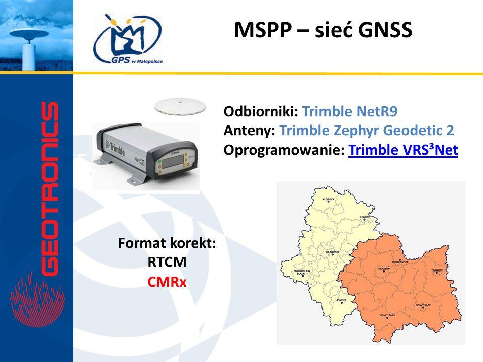 MSPP – sieć GNSS Odbiorniki: Trimble NetR9