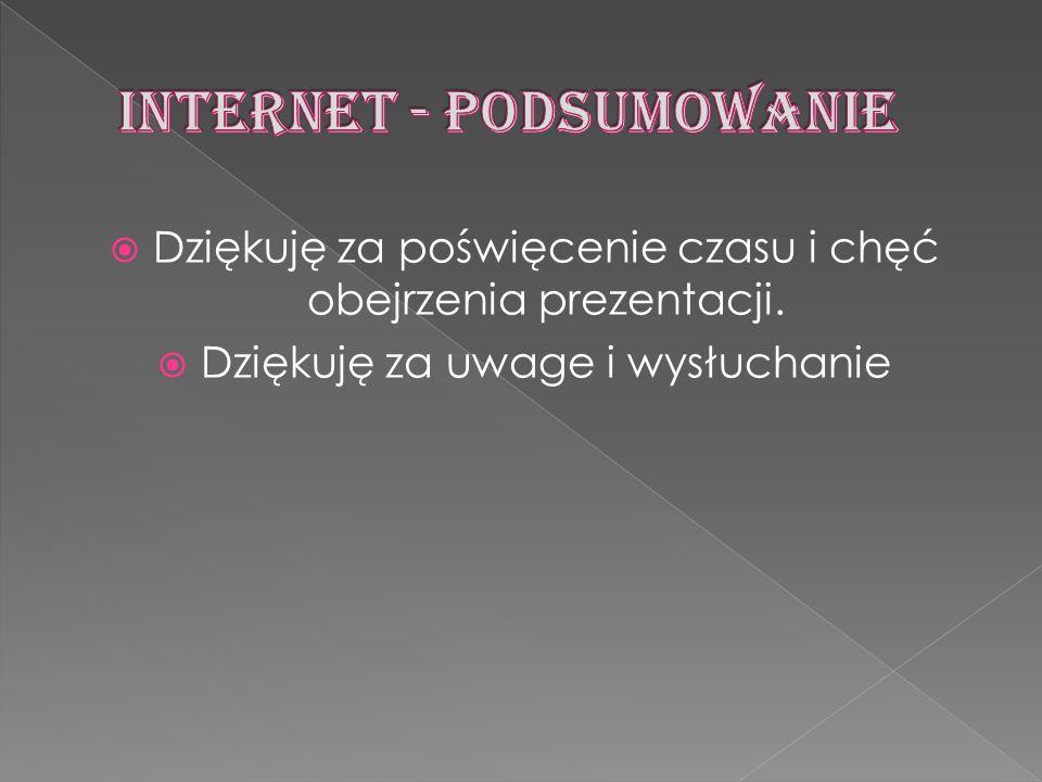 INTERNET - PODSUMOWANIE