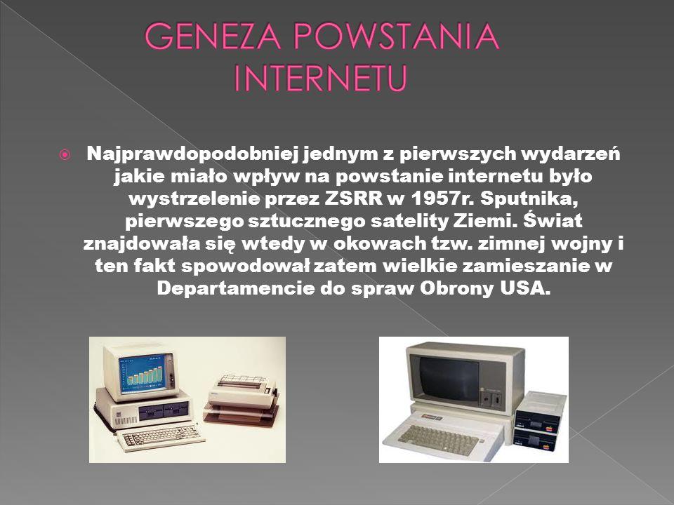 GENEZA POWSTANIA INTERNETU