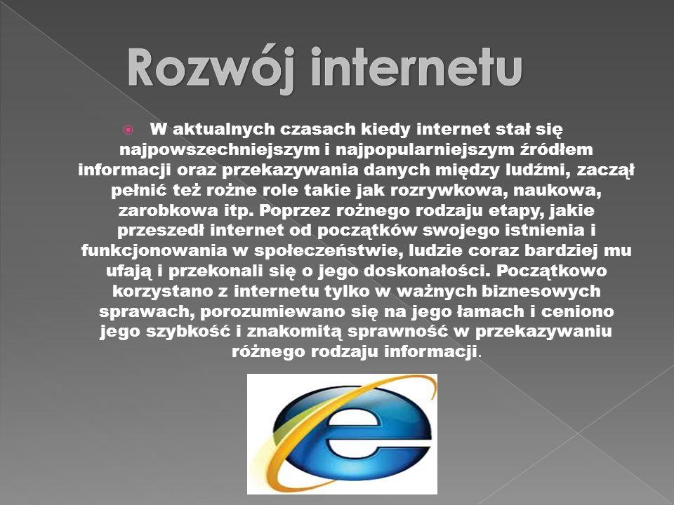 Rozwój internetu