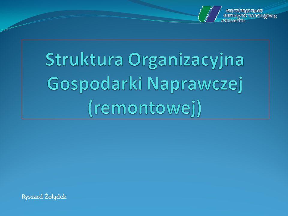 Struktura Organizacyjna Gospodarki Naprawczej (remontowej)