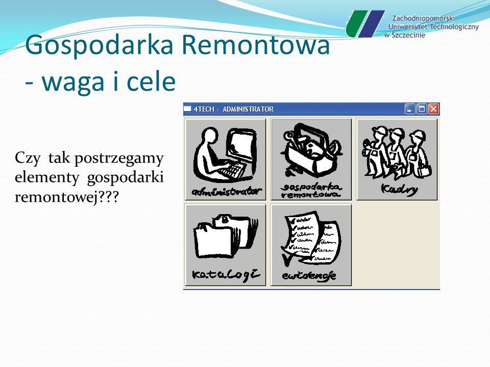 Gospodarka Remontowa - waga i cele