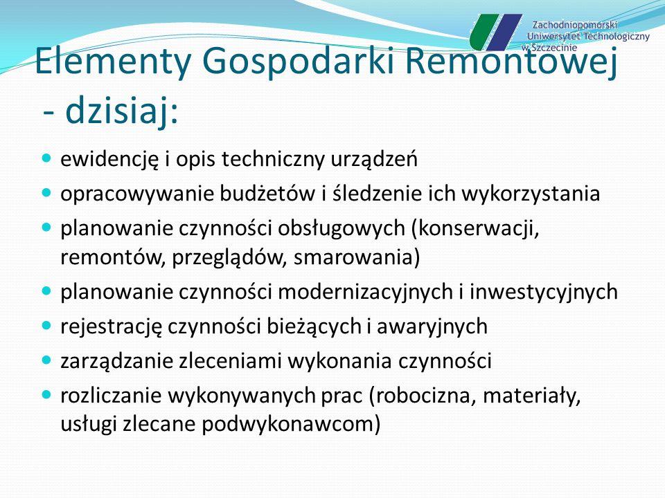 Elementy Gospodarki Remontowej - dzisiaj: