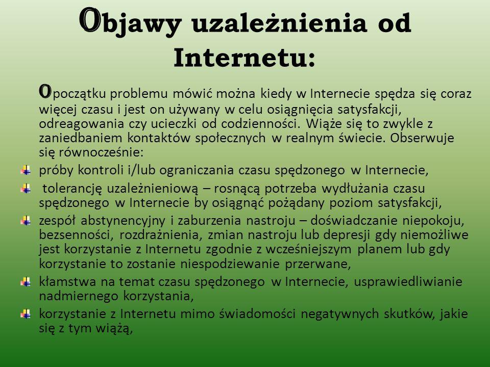 Objawy uzależnienia od Internetu: