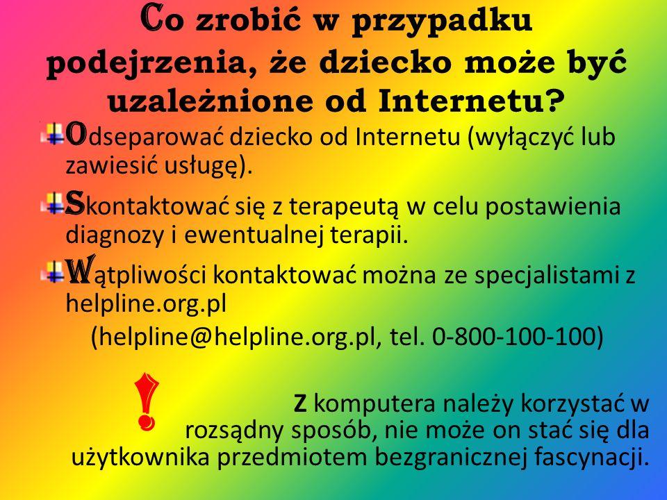 Co zrobić w przypadku podejrzenia, że dziecko może być uzależnione od Internetu