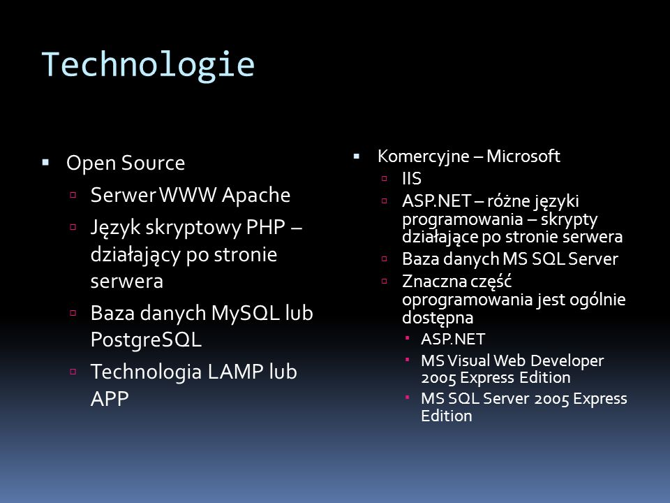 Technologie Open Source Serwer WWW Apache