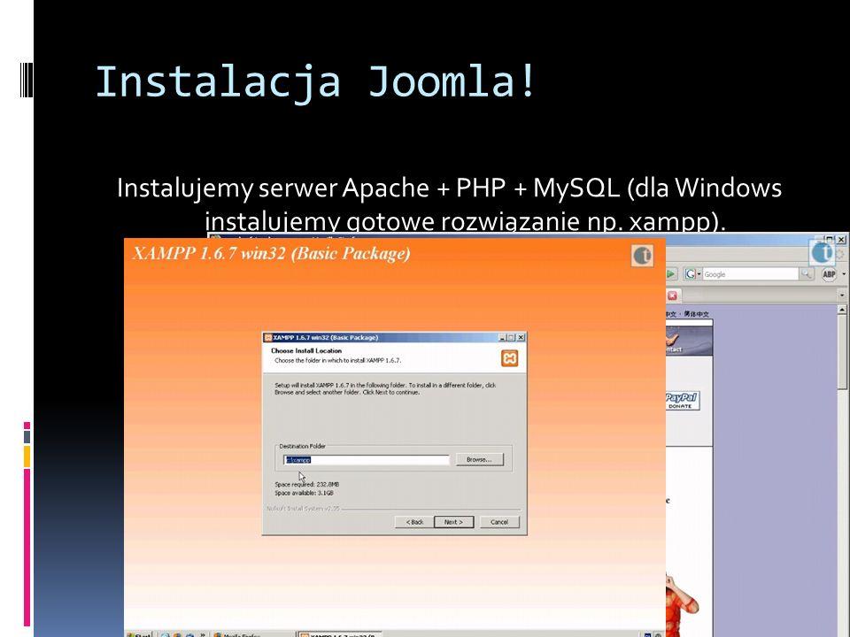 Instalacja Joomla.