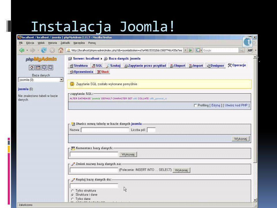 Instalacja Joomla!