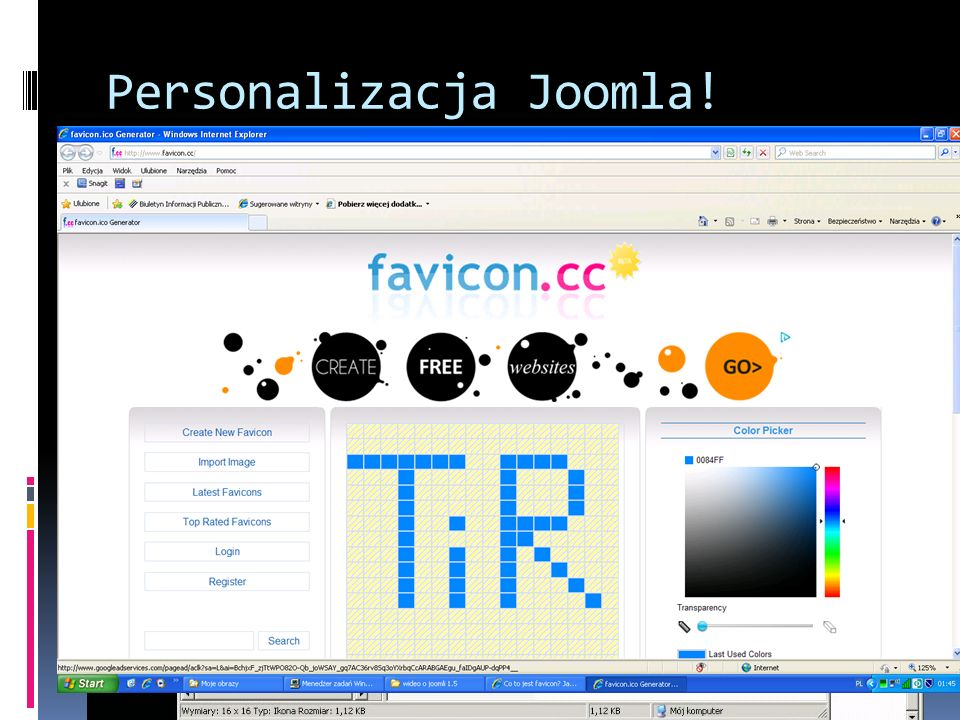 Personalizacja Joomla!