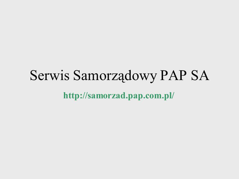 Serwis Samorządowy PAP SA
