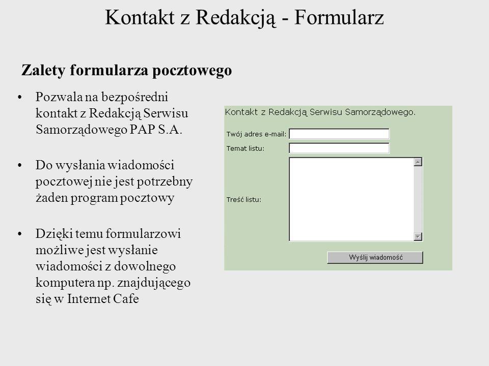 Kontakt z Redakcją - Formularz