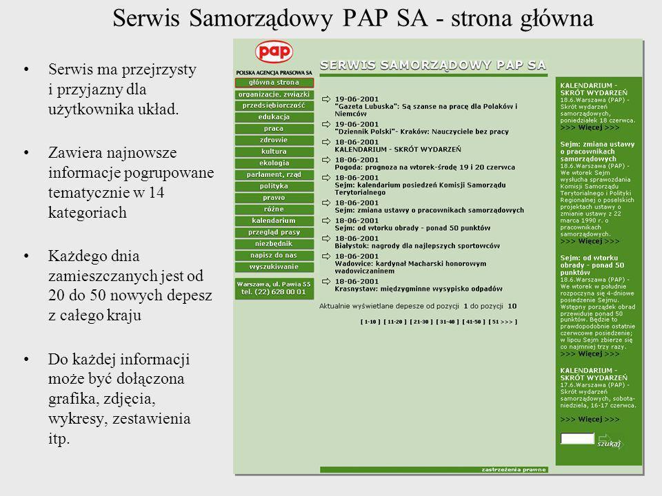 Serwis Samorządowy PAP SA - strona główna