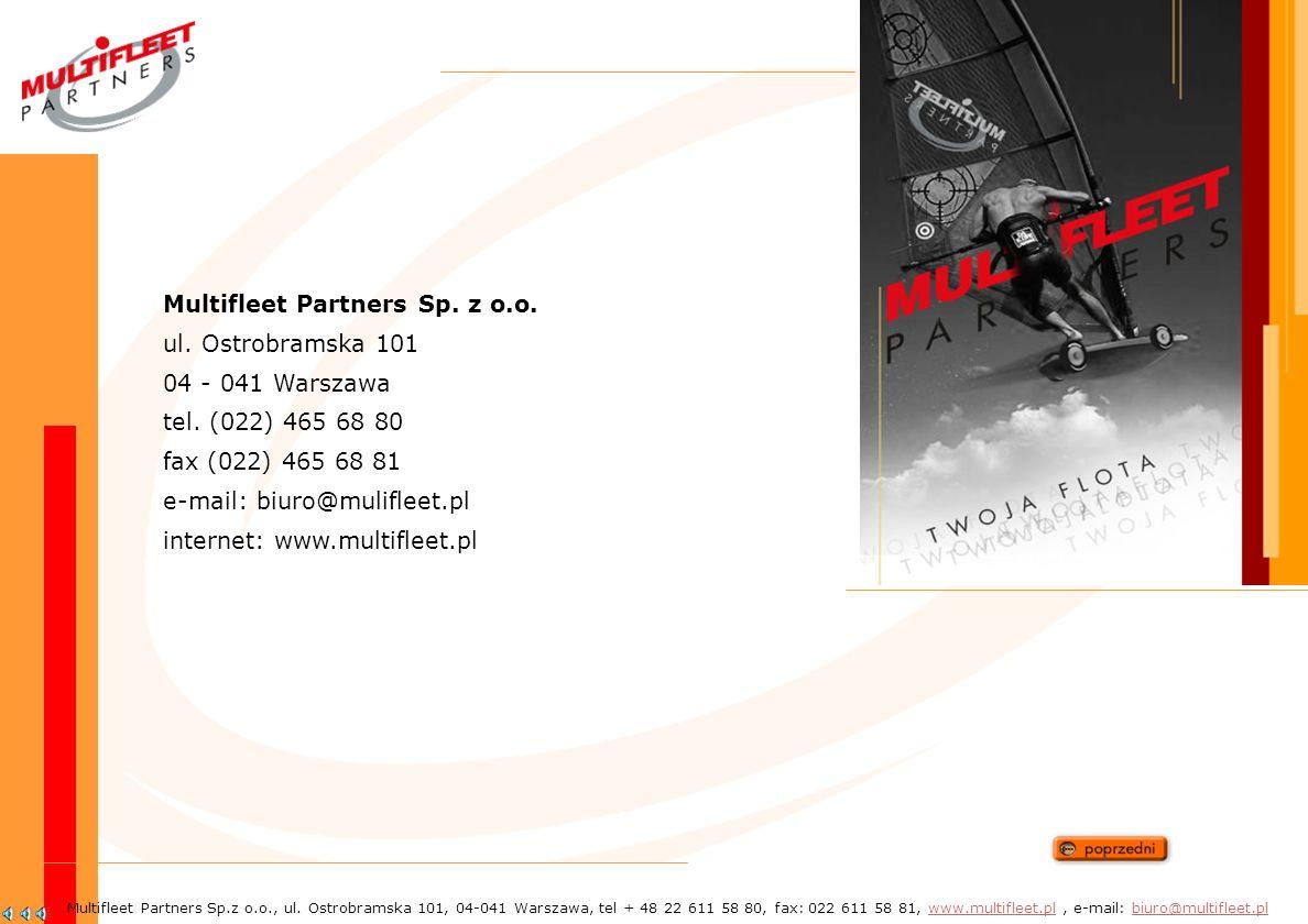 Multifleet Partners Sp. z o.o. ul. Ostrobramska 101 04 - 041 Warszawa