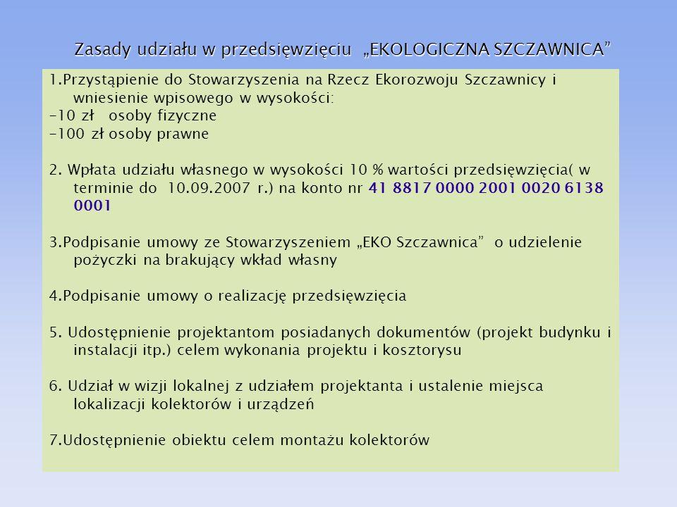 """Zasady udziału w przedsięwzięciu """"EKOLOGICZNA SZCZAWNICA"""