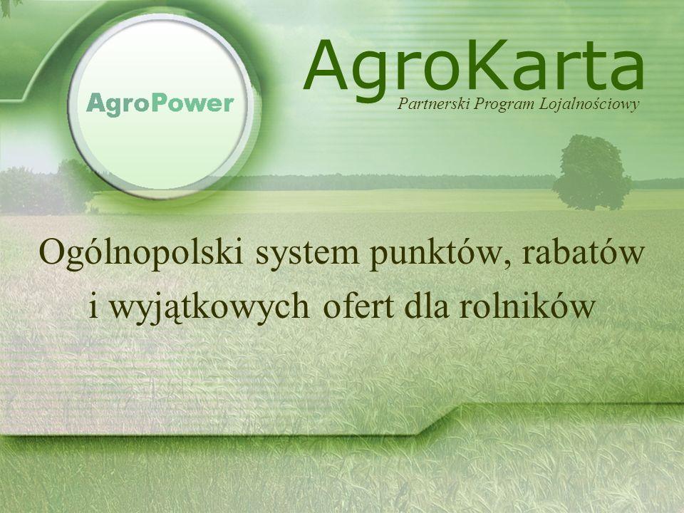 Ogólnopolski system punktów, rabatów i wyjątkowych ofert dla rolników