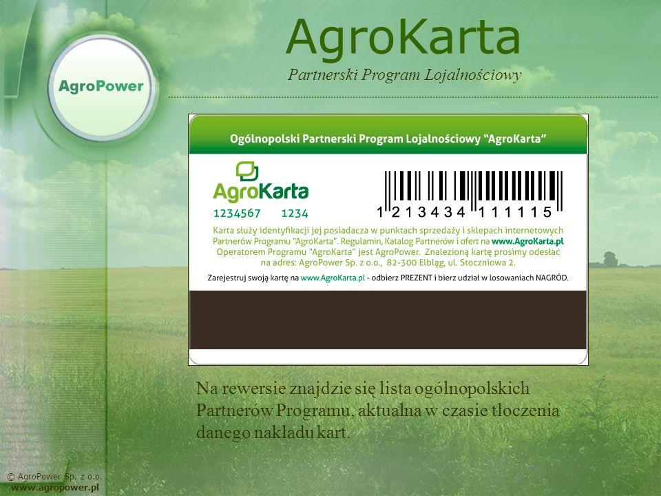 AgroKarta Partnerski Program Lojalnościowy.