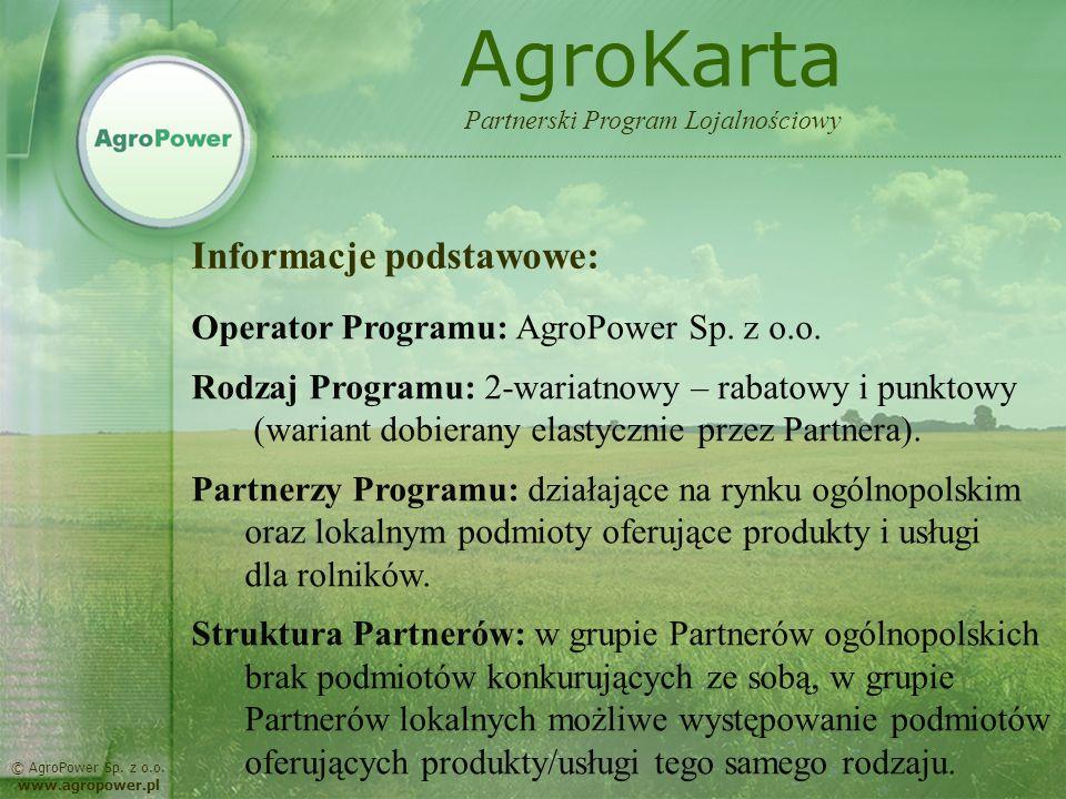 AgroKarta Informacje podstawowe: