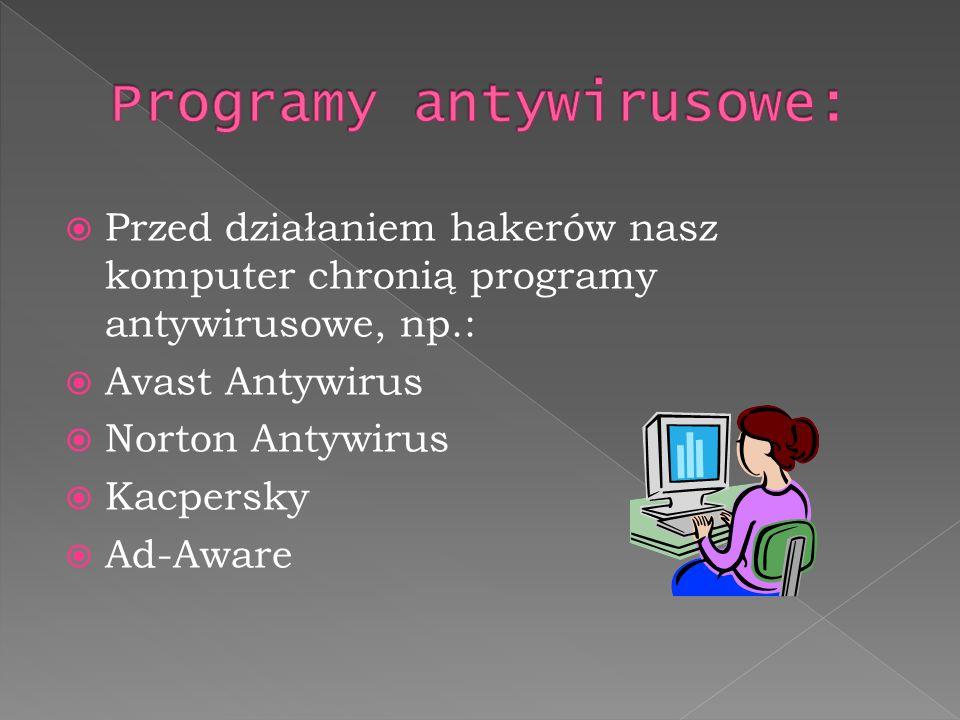Programy antywirusowe:
