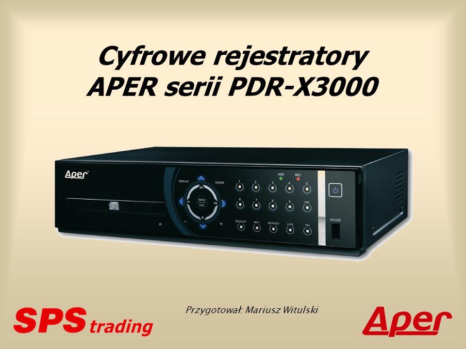 Cyfrowe rejestratory APER serii PDR-X3000