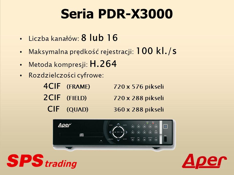 Seria PDR-X3000 Liczba kanałów: 8 lub 16