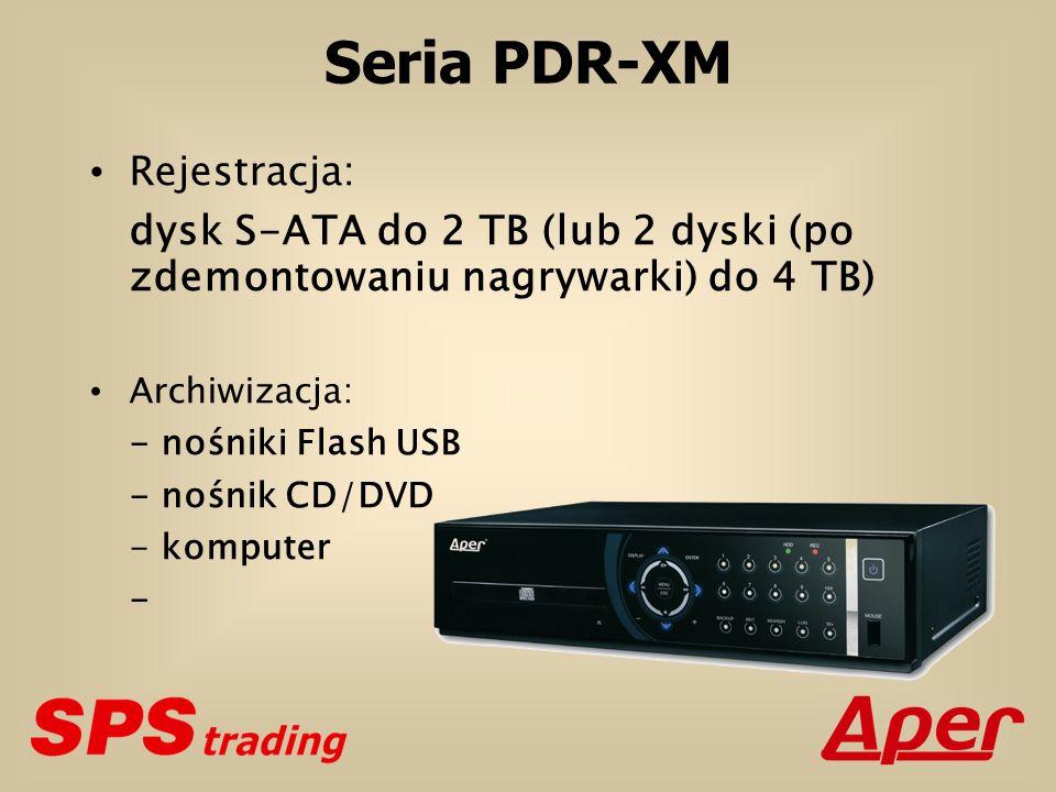 Seria PDR-XM Rejestracja: