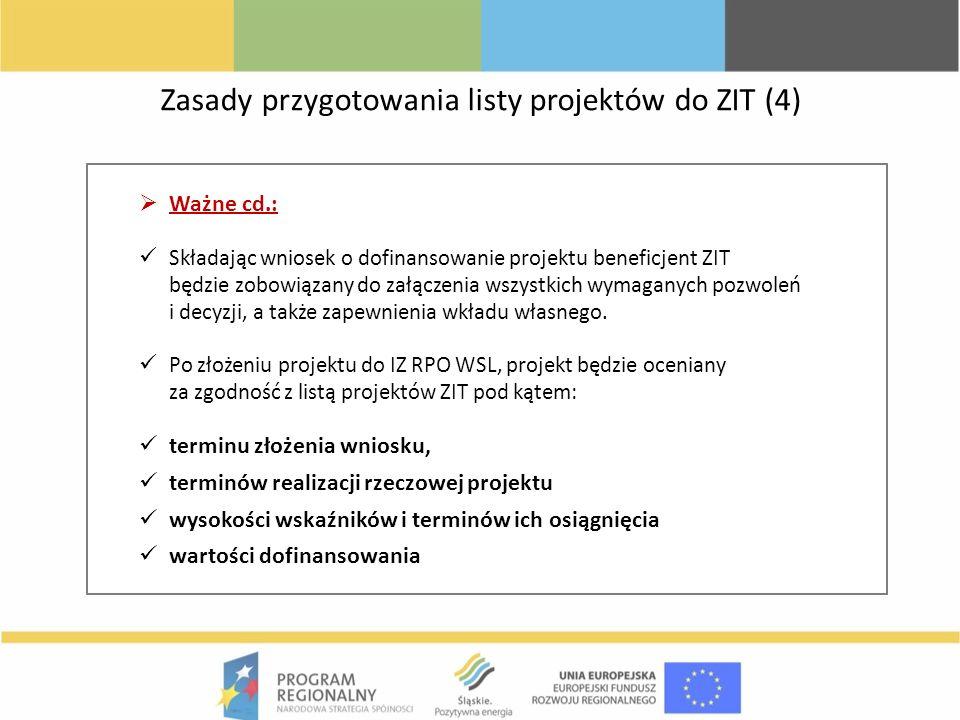 Zasady przygotowania listy projektów do ZIT (4)