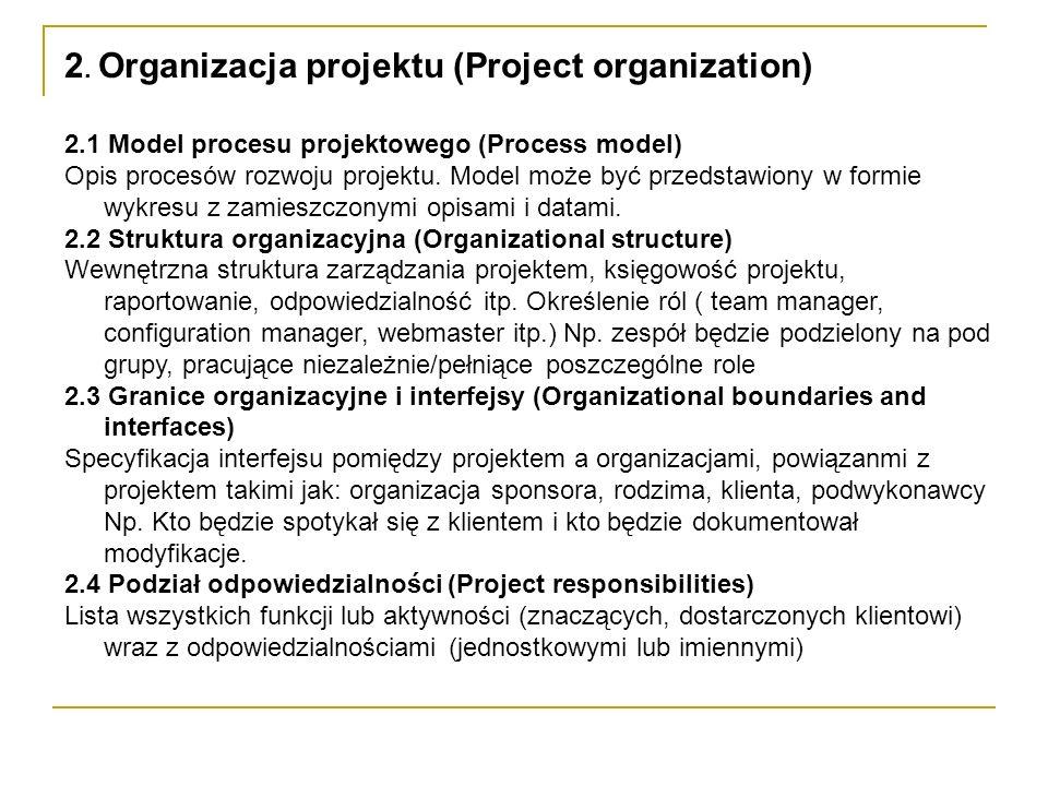 2. Organizacja projektu (Project organization)