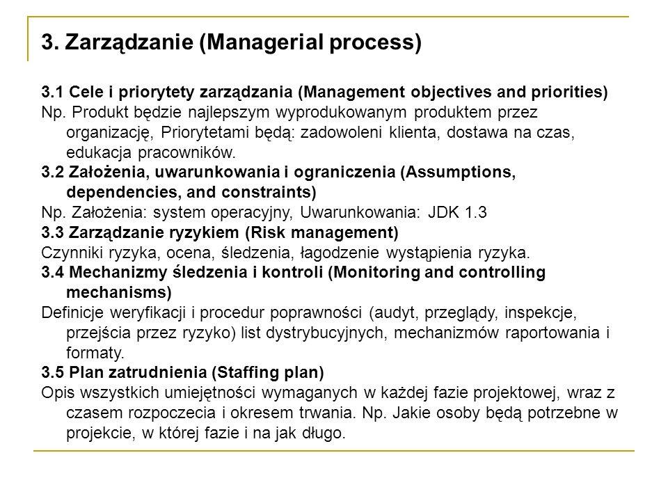 3. Zarządzanie (Managerial process)