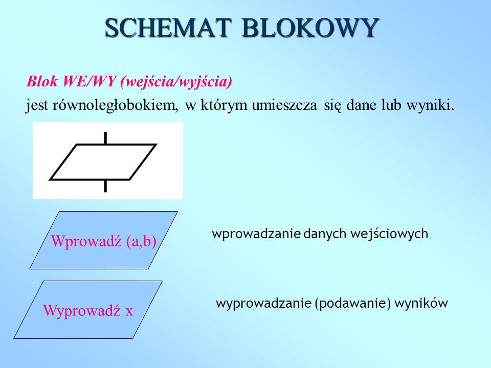 SCHEMAT BLOKOWY Blok WE/WY (wejścia/wyjścia)