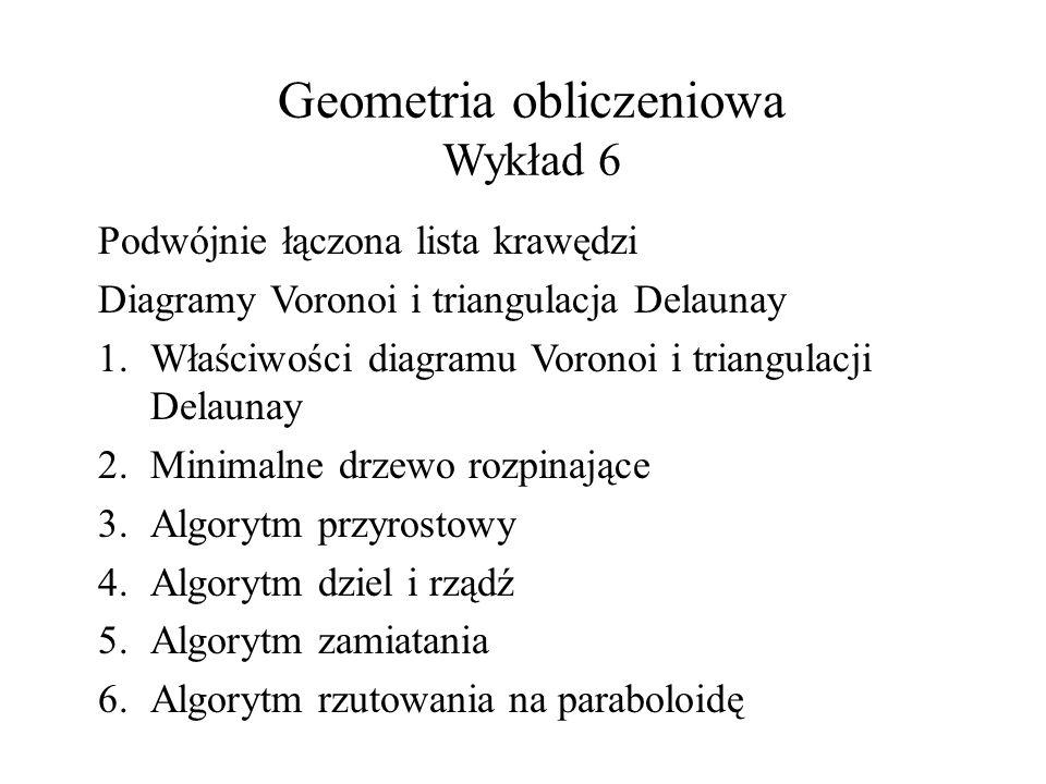 Geometria obliczeniowa Wykład 6