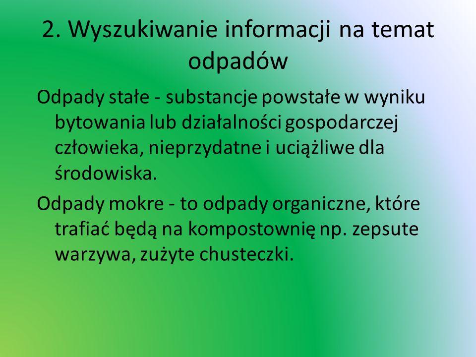 2. Wyszukiwanie informacji na temat odpadów