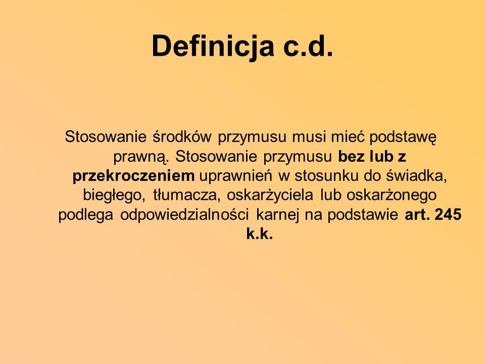 Definicja c.d.