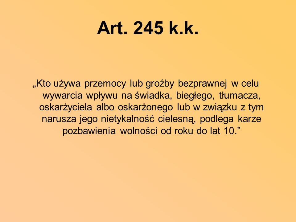 Art. 245 k.k.